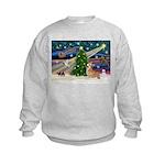XmasMagic/Corgi (7b) Kids Sweatshirt