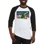 XmasMagic/2 Corgis (P3) Baseball Jersey