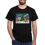 XmasMagic/2 Corgis (P3) Dark T-Shirt