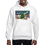 XmasMagic/2 Corgis (P3) Hooded Sweatshirt