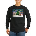 XmasMagic/2 Corgis (P3) Long Sleeve Dark T-Shirt