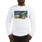 XmasMagic/2 Corgis (P3) Long Sleeve T-Shirt