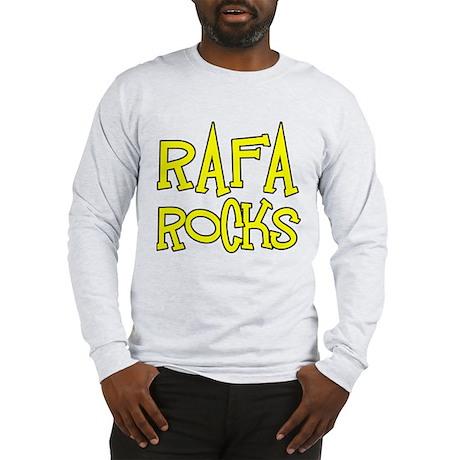 Rafa Rocks Tennis Design Long Sleeve T-Shirt