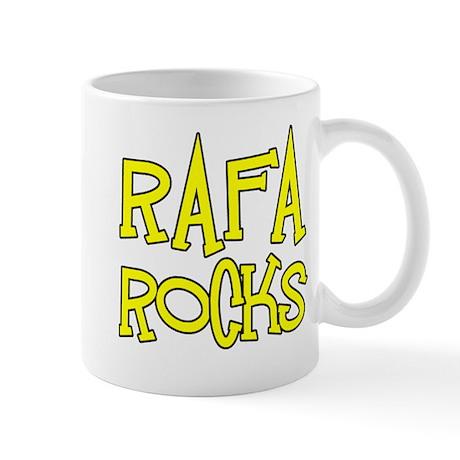 Rafa Rocks Tennis Design Mug