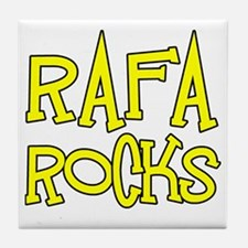 Rafa Rocks Tennis Design Tile Coaster