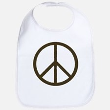 Cool Vintage Peace Sign Bib