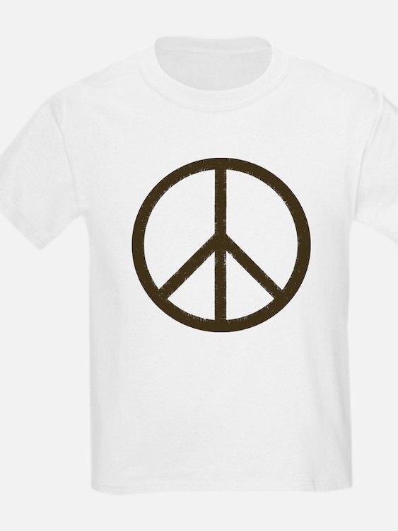 Cool Vintage Peace Sign T-Shirt
