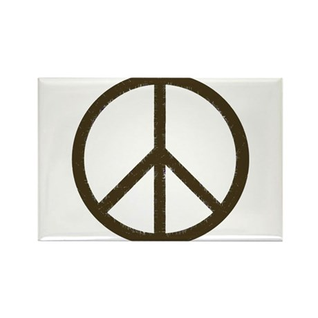 Cool Vintage Peace Sign Rectangle Magnet (10 pack)