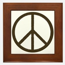 Cool Vintage Peace Sign Framed Tile