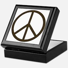 Cool Vintage Peace Sign Keepsake Box