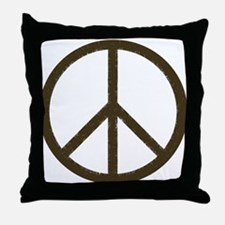 Cool Vintage Peace Sign Throw Pillow