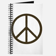 Cool Vintage Peace Sign Journal