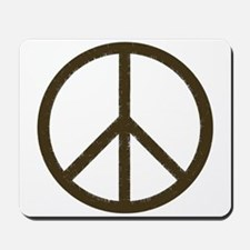 Cool Vintage Peace Sign Mousepad