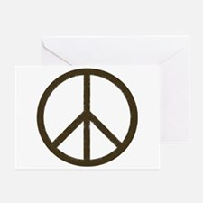 Cool Vintage Peace Sign Greeting Card