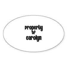 Property of Carolyn Oval Decal
