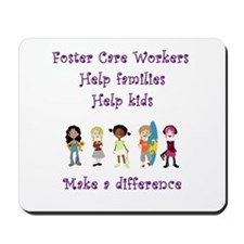 Foster Care Workers Mousepad