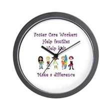 Foster Care Workers Wall Clock