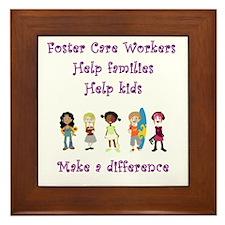 Foster Care Workers Framed Tile