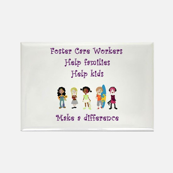 Foster Care Workers Rectangle Magnet