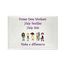 Foster Care Workers Rectangle Magnet (10 pack)