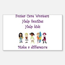 Foster Care Workers Rectangle Decal