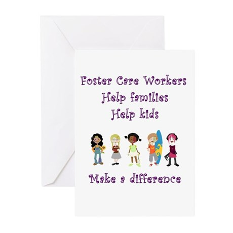 Foster Care Workers Greeting Cards (Pk of 10)