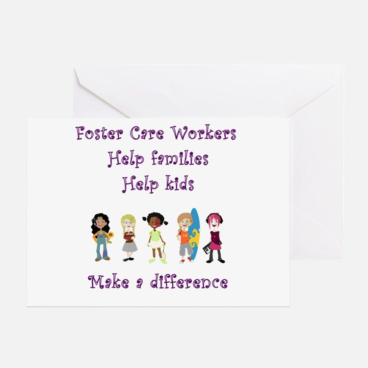 Foster Care Workers Greeting Card