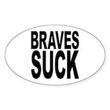 Braves Suck Oval Sticker