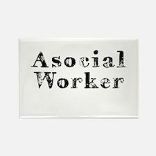 Asocial Worker Rectangle Magnet