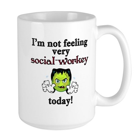 Not Social-Workey Today Large Mug