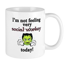 Not Social-Workey Today Small Mugs