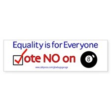 No on 8 Bumper Bumper Sticker