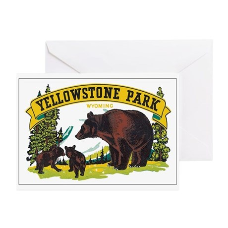 YELLOWSTONE PARK Greeting Cards (Pk of 20)