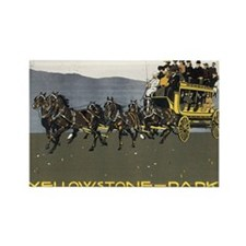 YELLOWSTONE PARK Rectangle Magnet (100 pack)