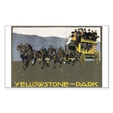 YELLOWSTONE PARK Rectangle Decal