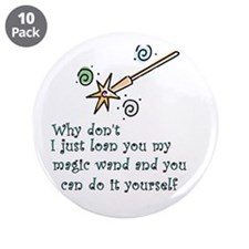 "Magic Wand 3.5"" Button (10 pack)"