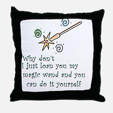 Magic Wand Throw Pillow