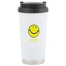 Friday Smiley Travel Mug