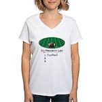 Priority Football Women's V-Neck T-Shirt