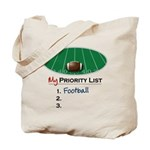 Priority Football Tote Bag