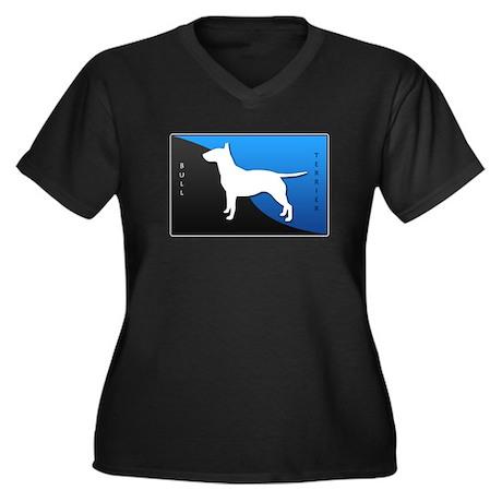 Bull Terrier Women's Plus Size V-Neck Dark T-Shirt