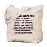 Social work Canvas Totes