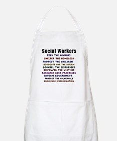 Social Workers Work! BBQ Apron