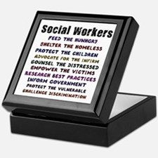Social Workers Work! Keepsake Box