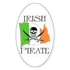 Irish Pirate Flag Oval Decal