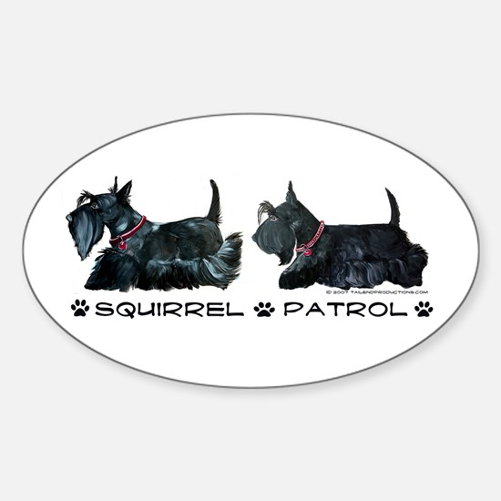 Scottie Squirrel Patrol Terri Oval Decal
