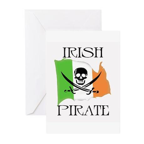 Irish Pirate Flag Greeting Cards (Pk of 10)