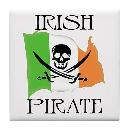 Irish Pirate Flag Tile Coaster