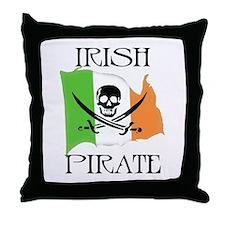 Irish Pirate Flag Throw Pillow