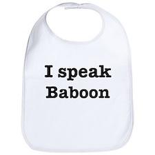 I speak Baboon Bib